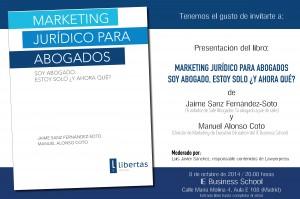 presentación del libro en Madrid 8 oct 2014