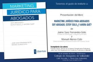 presentación del libro en Valladolid 16 oct 2014