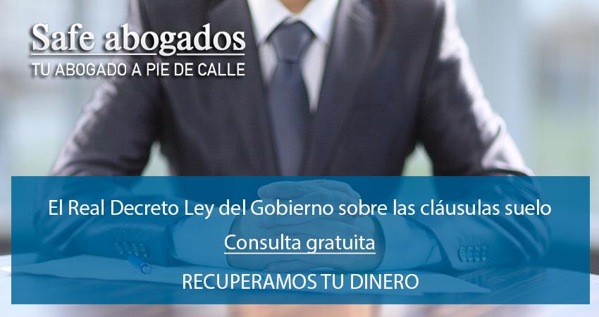 Real decreto ley sobre las cl usulas suelo del gobierno for Reclamacion cantidad clausula suelo